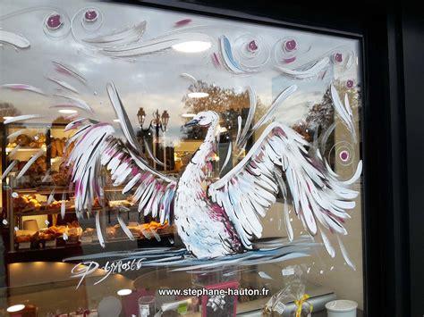 peinture sur vitrine commerces  associations  peinture