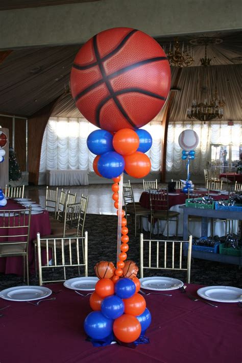Sports Themed Balloon Centerpieces  Party Planning Ideas