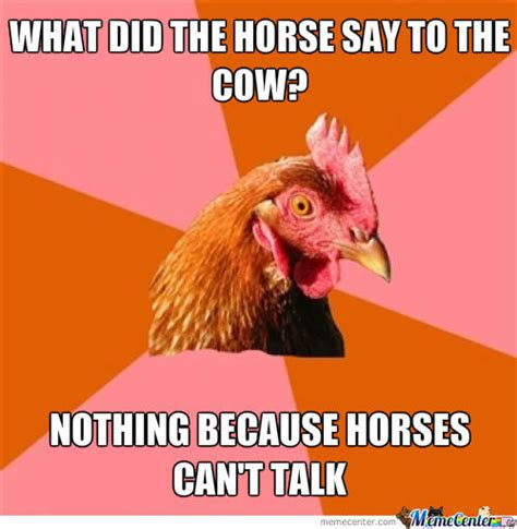 Anti Joke Chicken Meme - moo cow chicken memes best collection of funny moo cow chicken pictures