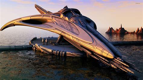 Futuristic spaceship design wallpaper - Fantasy wallpapers ...