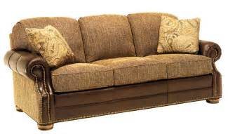 Sectional Sofa with Fabric and Leather
