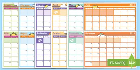 December Meal Planner Template by 2018 Monthly Calendar Planning Template Monthly Calendar