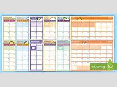 2018 Monthly Calendar Planning Template Monthly Calendar