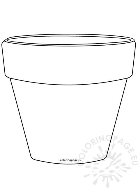 printable flower pot shape image coloring page