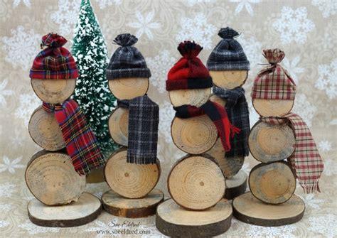 wood slice snowmen sues creative workshop