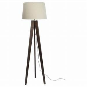 buy tesco tripod floor lamp walnut linen shade from our With tripod floor lamp with tartan shade