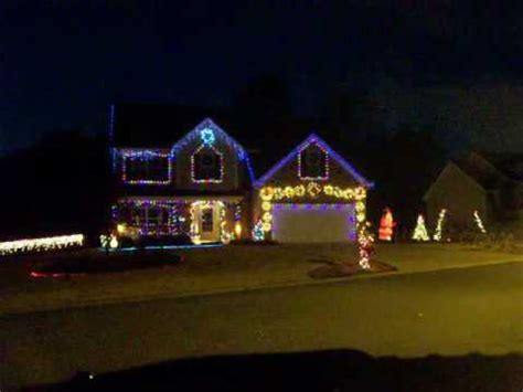 let it snow christmas light show youtube