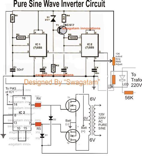 va pure sine wave inverter circuit