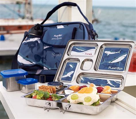 pottery barn lunch box blue shark planet box lunch boxes pottery barn