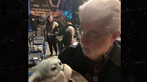 George Lucas Finally Meets Baby Yoda on Set of ...