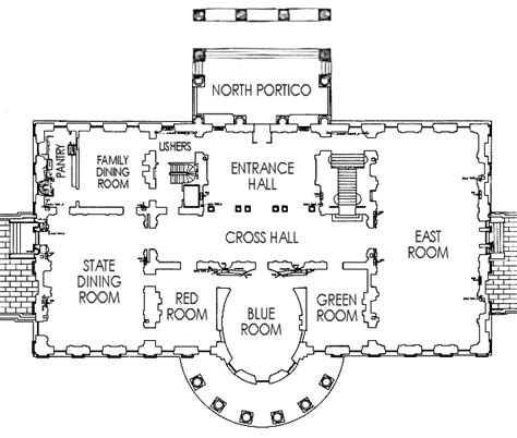 floor plans of the white house first floor white house museum