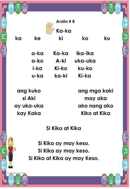 abakada ideas kindergarten reading worksheets