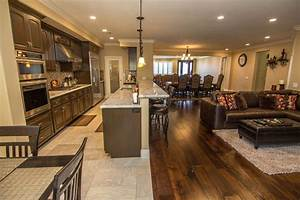 Open Concept Kitchen, Dining, Family Room - Transitional