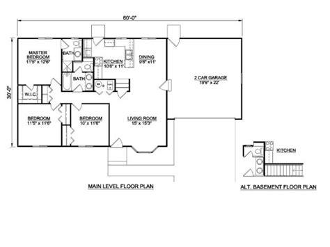 square feet  bedroom house plans cottage floor plans