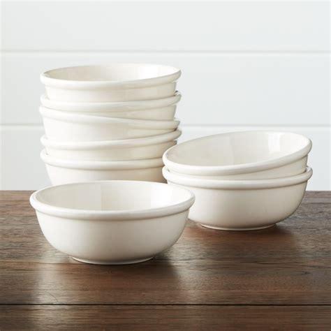 Set of 8 Dinette Cereal Bowls   Crate and Barrel