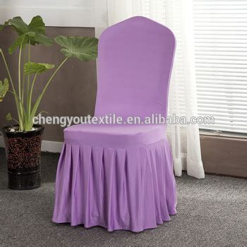 china manufacturer pleated skirt lilac chair cover for