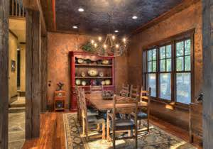 indian lakes mountain lodge style rustic dining room houston by ellis custom homes llc