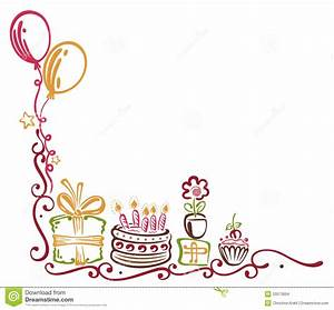 Birthday border stock vector Illustration of festival