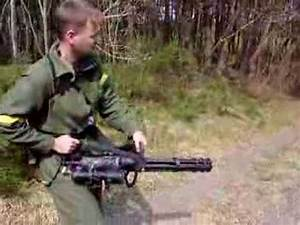 Asahi M-134A Vulcan Airsoft Minigun - YouTube