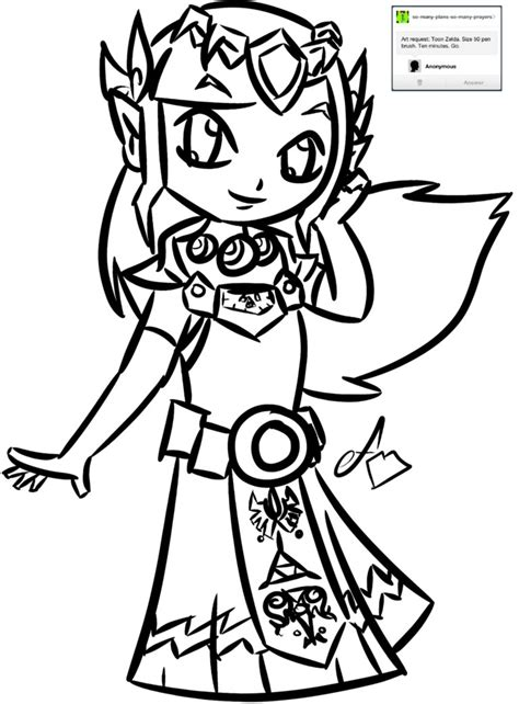 draw zelda drawings sketch coloring page