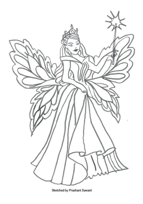 Winter Fairy Coloring Pages at GetColorings com Free