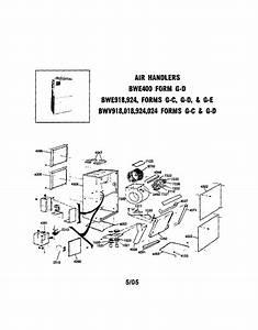 Trane Model Bwe924g10nd0 Air Handler  Indoor Blower U0026evap