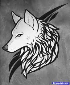 Cool Wolf Tattoo Drawings