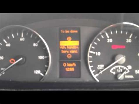 reset mercedes sprinter service indicator youtube
