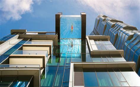 glass bottom pool hanging  honolulu    breathtaking views
