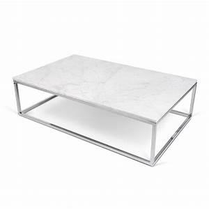Table Basse Marbre But : temahome table basse 120cm prairie marbre blanc m tal chrom ~ Teatrodelosmanantiales.com Idées de Décoration
