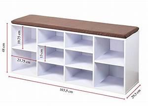 Schuhschrank Zum Sitzen : kesper schuhschrank mit sitzkissen 103 5 x 29 5 x 48 cm2 sitztruhesitztruhe ~ Sanjose-hotels-ca.com Haus und Dekorationen