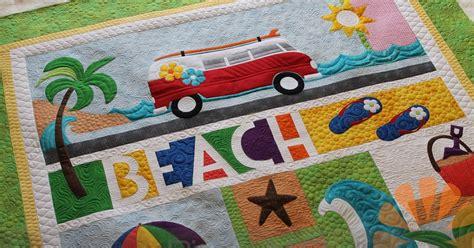 Piece N Quilt Beach Break  Custom Machine Quilting By