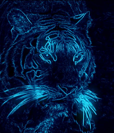 Cool Neon Tigers