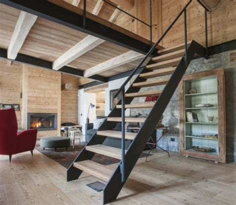 escalier bois metal mzaol