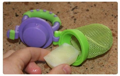 baby mesh feeder breast milk popsicles great solution for teething