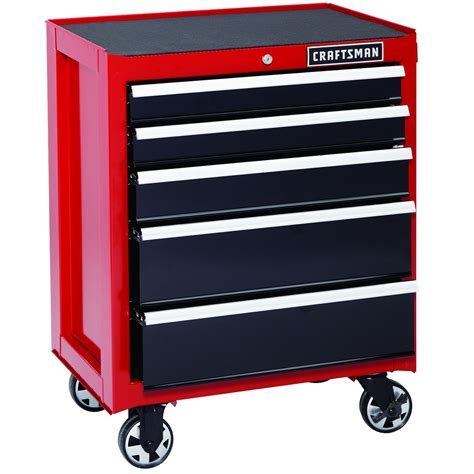 craftsman 5 drawer rolling tool box craftsman 26 in 5 drawer heavy duty bearing rolling