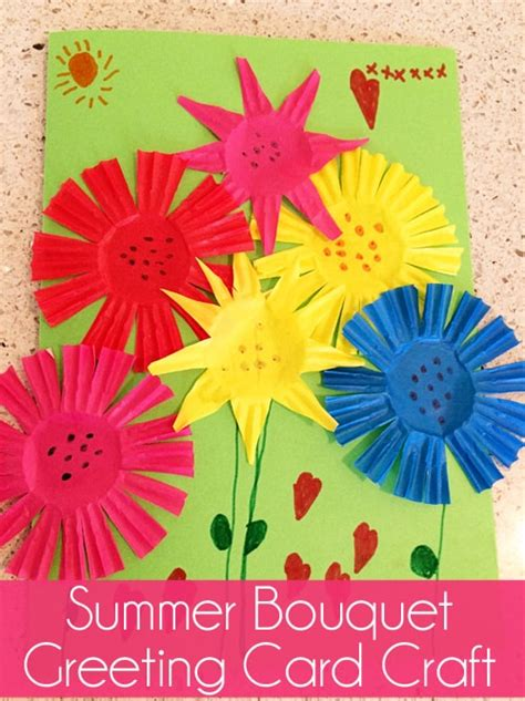 summer bouquet greeting card craft skip   lou