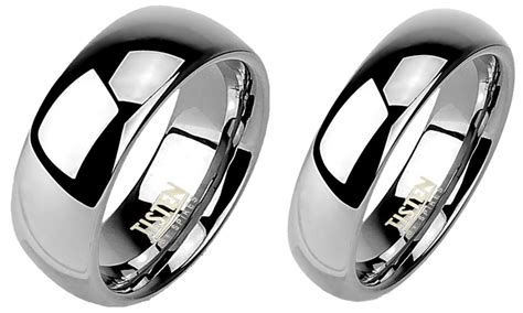 spikes s 8mm wedding band ring tungsten titanium size 10 check back soon blinq