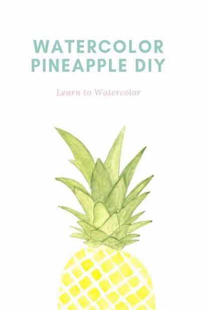 Pineapple Easy Painting Watercolor Water Tutorial Simplenaturedecorblog