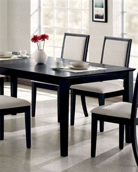 black distressed dining table dining table in distressed black coaster