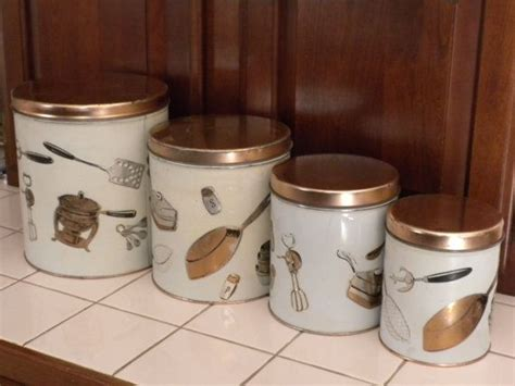 bronze kitchen canisters vintage kitchen canister set of 4 weibro canister set bronze color lids vintage canister