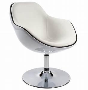 Fauteuil Pivotant Design : fauteuil design kok pivotant blanc fauteuil style retro ~ Teatrodelosmanantiales.com Idées de Décoration