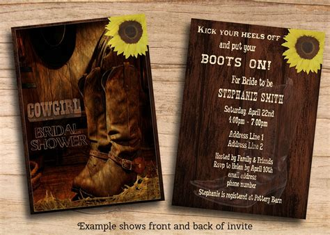 cowboy party invitations templates