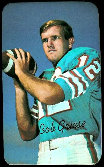 bob griese  topps super  vintage football card
