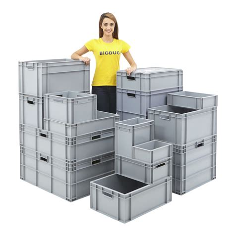 Euro Storage Containers Stackable Plastic Crate Boxes