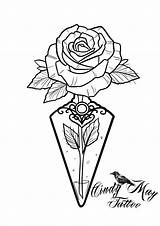 Tattoo Rose Trippy Drawings Coloring Bottle Sketches Potion Cindy Uploaded sketch template