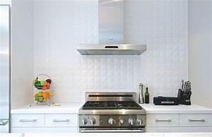 25 creative geometric tile ideas that bring excitement to for White ceramic backsplash tile
