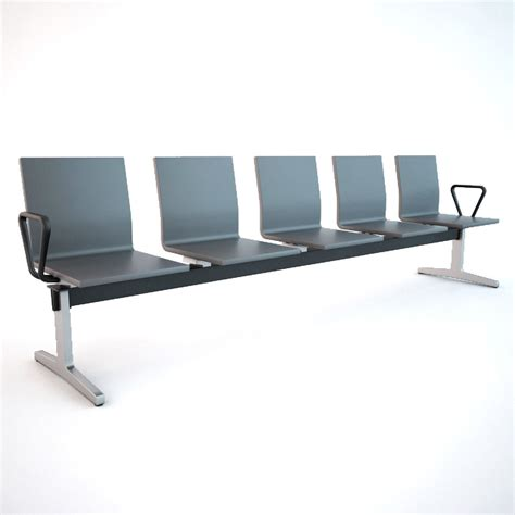 vitra waiting chair 3d model max obj fbx cgtrader