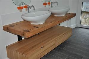 Salle De Bain Plan De Travail : fabriquer meuble salle de bain avec plan de travail ~ Melissatoandfro.com Idées de Décoration