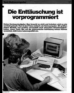Dampfbackofen Test Stiftung Warentest : stiftung warentest ausgabe 10 1984 die entt uschung ist vorprogrammiert heimcomputer im ~ Watch28wear.com Haus und Dekorationen